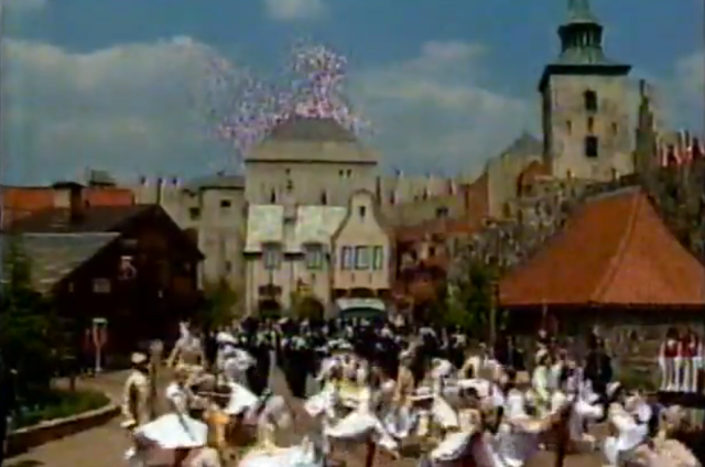 World Showcase dancers, when you wish upon a star, ballons and fireworks