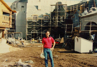 Infront of Maelstrom during construction.