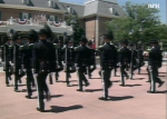 The Royal Norwegian Guard playing at the American Adventure.